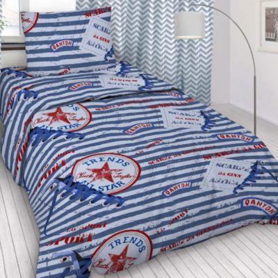Детское постельное белье 1,5 сп Letto, Звезда, голубой