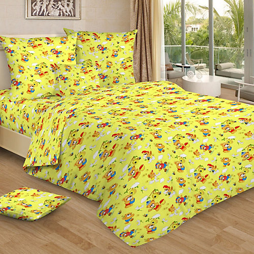 Детское постельное белье 3 предмета Letto, BG-98 - желтый от Letto