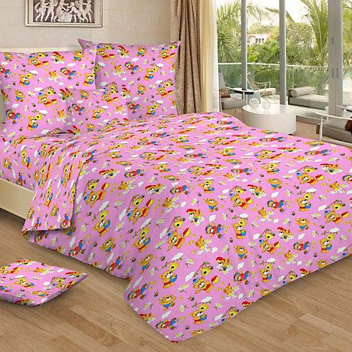 Детское постельное белье 1,5 сп Letto, Медовый мишка, розовый от Letto