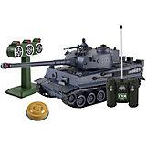 """Танк Mioshi Army """"Стрельбы: MТ-6"""" на радиоуправлении, свет/звук, серый"""