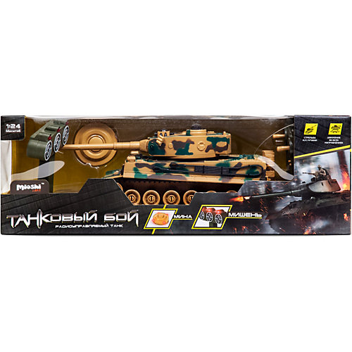 """Танк Mioshi Army """"Стрельбы: MТ-6"""" на радиоуправлении, свет/звук, камуфляж от Mioshi"""