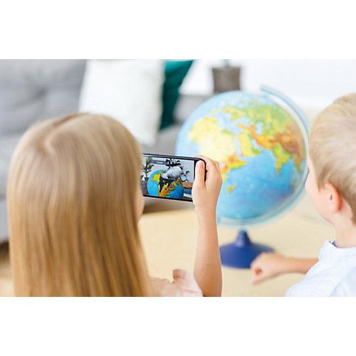 Интерактивный глобус Земли Globen физико-политический рельефный с подсветкой, 320мм от Globen