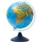 Интерактивный глобус Земли  Globen физико-политический рельефный с подсветкой, 250мм