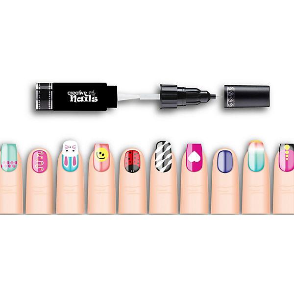 Лак-ручка для ногтей Creative Nails, 2 шт.: бежевый, темно-фиолетовый