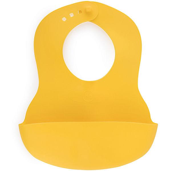 Нагрудник пластиковый Happy Baby, lemon