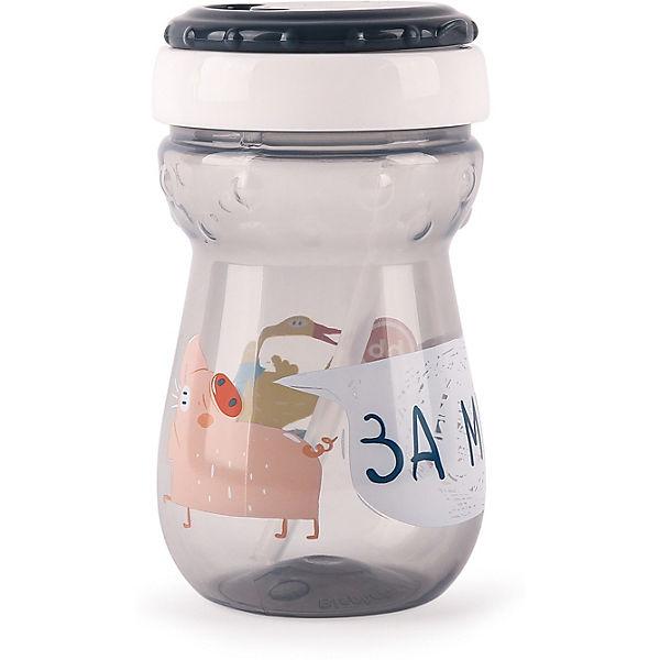 Поильник для кормления с трубочкой Happy Baby 360 мл, smoky