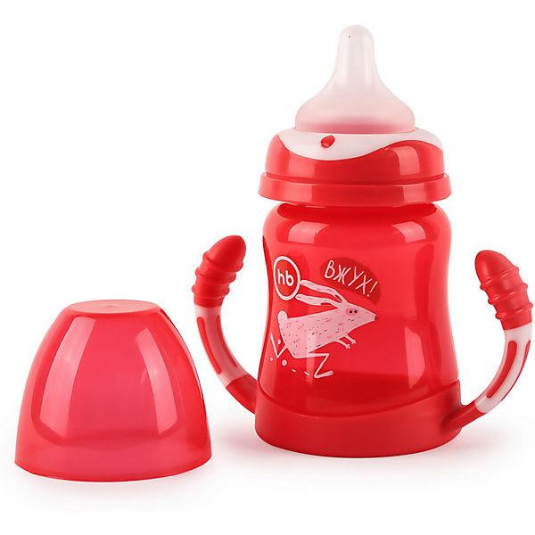 Поильник для кормления с ручками Happy Baby 210 мл, ruby