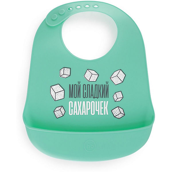 Нагрудник силиконовый Happy Baby, mint