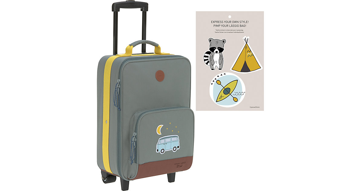 Trolley 4Kids, Adventure Bus, blue blau   Taschen > Koffer & Trolleys > Trolleys   Blau   Polyester   Lässig