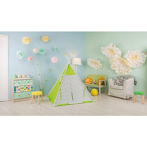 Палатка-вигвам детская Polini Зигзаг, зеленая