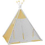 Палатка-вигвам детская Polini Зигзаг, желтая