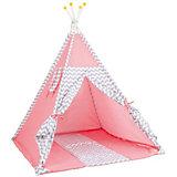 Палатка-вигвам детская Polini Зигзаг, розовая