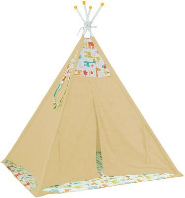 Палатка-вигвам детская Polini Жираф, желтая