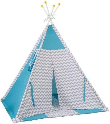 Палатка-вигвам детская Polini Зигзаг, голубая