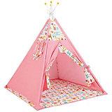 Палатка-вигвам детская Polini Жираф, розовая