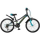 """Велосипед Novatrack Valiant 20"""", черный"""