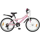 """Велосипед Novatrack Alice 20"""", розовый"""
