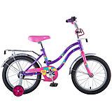 """Велосипед Novatrack Tetris 16"""", фиолетовый"""
