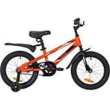 Велосипед Novatrack Juster 16 дюймов, оранжевый