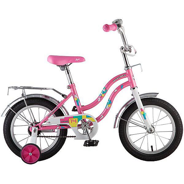 """Велосипед Novatrack Tetris 14"""", розовый"""