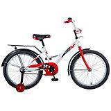 """Велосипед Novatrack Strike 20"""", бело-красный"""
