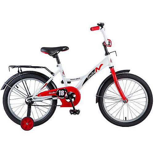 """Велосипед Novatrack Strike 18"""", бело-красный от Novatrack"""