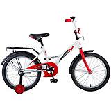 """Велосипед Novatrack Strike 18"""", бело-красный"""