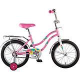 Велосипед Novatrack Tetris 16 дюймов, розовый