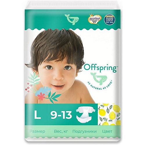 Эко-подгузники Offspring Лимоны L 9-13 кг., 36 шт. от Offspring