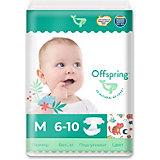 Эко-подгузники Offspring Котики M 6-10 кг., 42 шт.