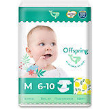 Эко-подгузники Offspring Лимоны M 6-10 кг., 42 шт.