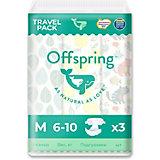 Эко-подгузники Offspring M 6-10 кг., 3 шт.