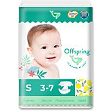 Эко-подгузники Offspring Лимоны S 3-7 кг., 48 шт.