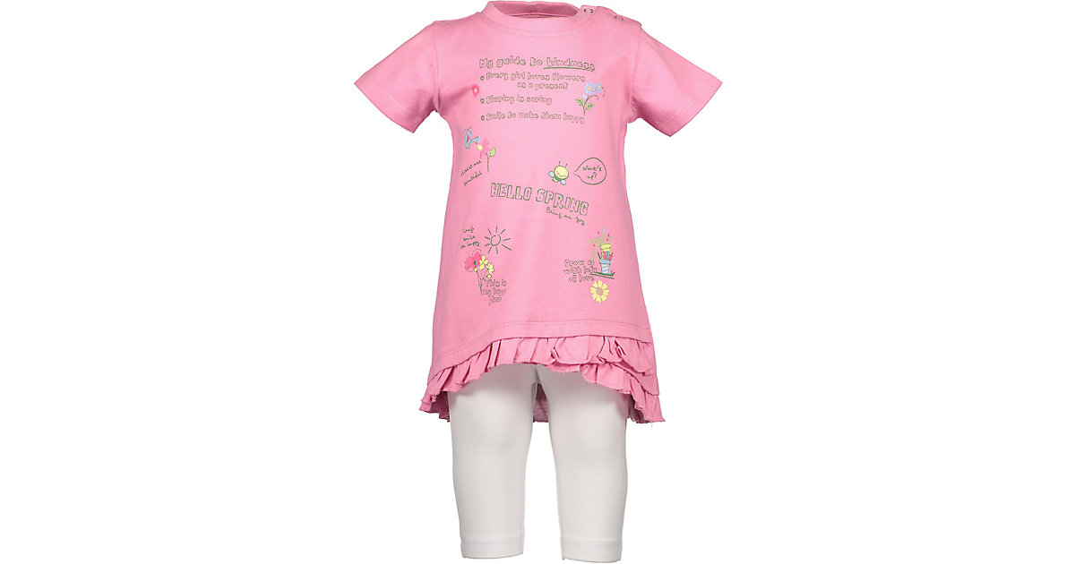 BLUE SEVEN · Baby Set T-Shirt + Caprileggings Gr. 80 Mädchen Kleinkinder