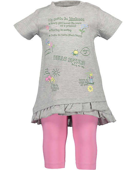 3117c483b81a0e Baby Set T-Shirt + Caprileggings für Mädchen