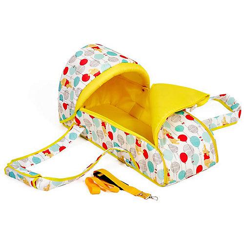 """Переносная люлька-кокон Polini kids Медвежонок Винни """"Чудесный день"""", желтый от ФЕЯ"""