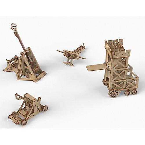 """Конструктор деревянный """"Набор рыцарей и осадных орудий для замка"""" от PlayWood"""