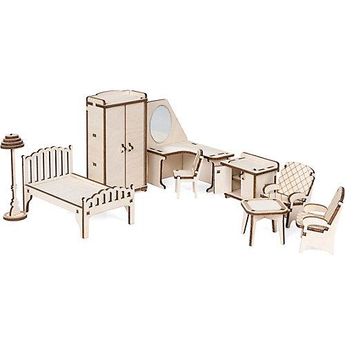 """Набор кукольной мебели """"Спальня"""" для домика """"Венеция"""" из дерева от Lemmo"""