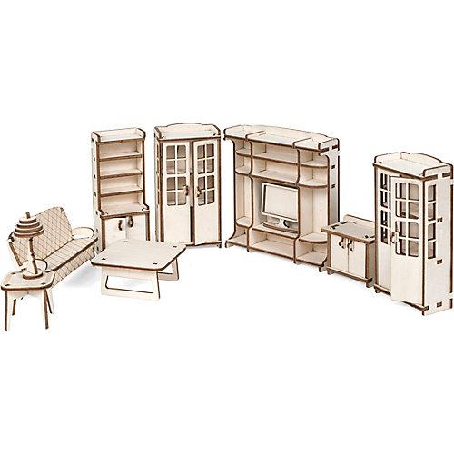 """Набор кукольной мебели """"Гостиная"""" для домика """"Венеция"""" из дерева от Lemmo"""