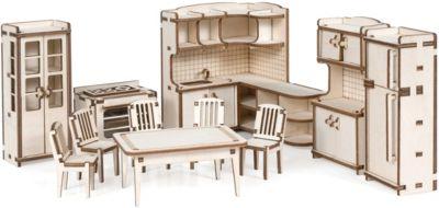 """Набор кукольной мебели """"Кухня"""" для домика """"Венеция"""" из дерева"""