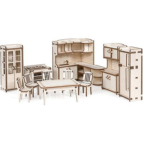 """Набор кукольной мебели """"Кухня"""" для домика """"Венеция"""" из дерева от Lemmo"""