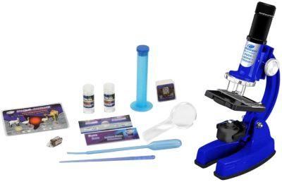 Микроскоп Eastcolight в кейсе, 48 предметов, синий