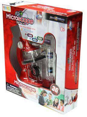 Микроскоп Eastcolight, 36 предметов, красный