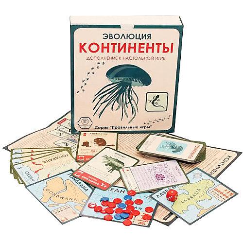 """Настольная игра Правильные игры """"Эволюция. Континенты"""", дополнение от Правильные игры"""