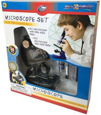 Микроскоп Eastcolight, 36 предметов, черный