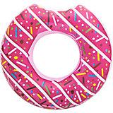 Круг для плавания Bestway Пончик, розовый