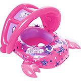 Лодочка для плавания Bestway Крабик, розовая