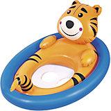 Лодочка для плавания Bestway Животные, оранжевая