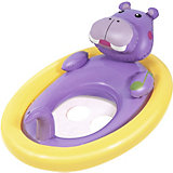 Лодочка для плавания Bestway Животные, фиолетовая