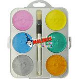 Набор перламутровых акварельных красок, 6 шт